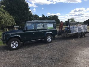 Photo of bulk bag hard wood logs on trailer with land rover 7th Sept 2018 3